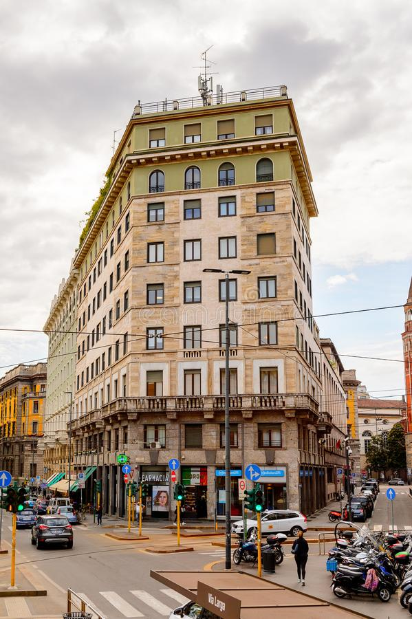 Architecture of Milan, Italy. MILAN, ITALY - May 2, 2014: Architecture of the centre of Milan, the capital of Lombardy, Italy. Milan was the host of the 2015 stock photos