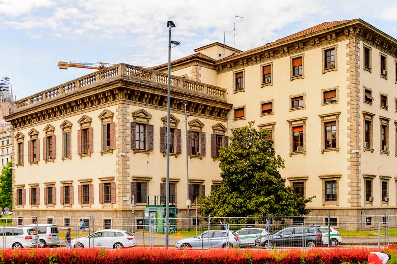 Architecture of Milan, Italy. MILAN, ITALY - May 2, 2014: Architecture of the centre of Milan, the capital of Lombardy, Italy. Milan was the host of the 2015 royalty free stock images