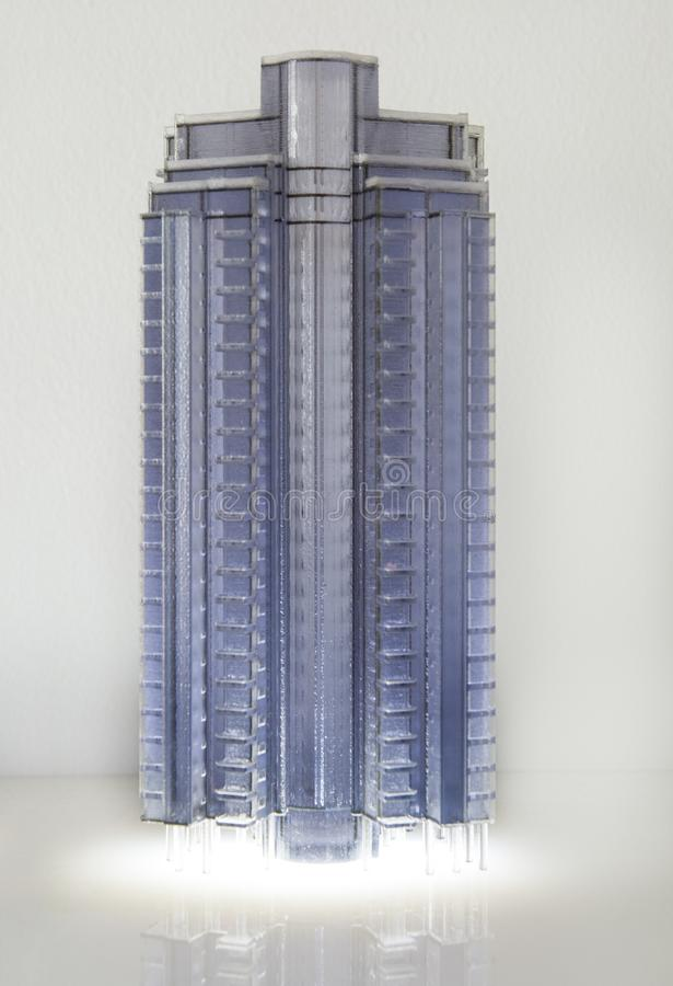 Architecture miniature models. High rise residential building projects royalty free stock images