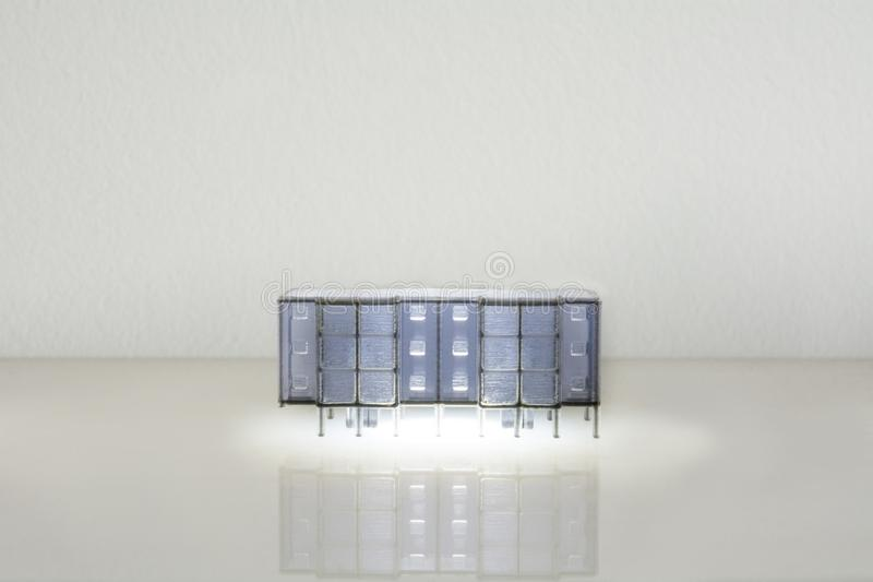 Architecture miniature models. Urban residential living stock photography