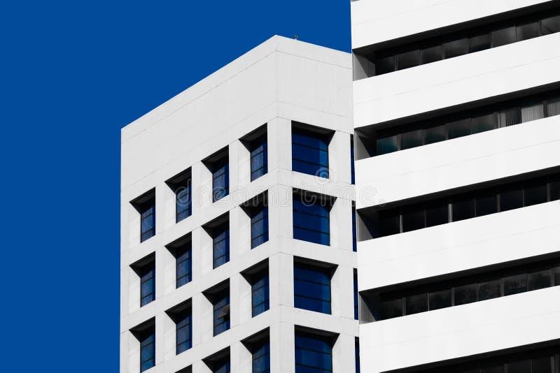 Architecture minimale abstraite de style Façade moderne de construction photographie stock