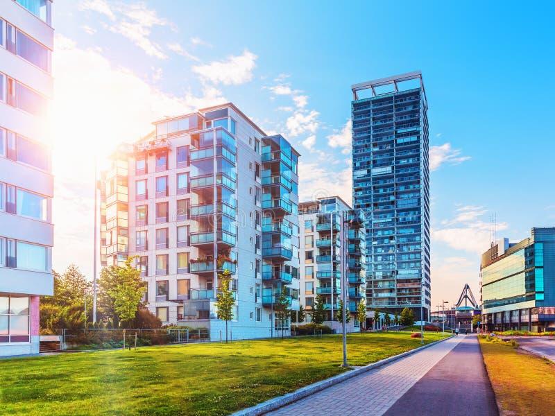Architecture moderne à Helsinki, Finlande images libres de droits