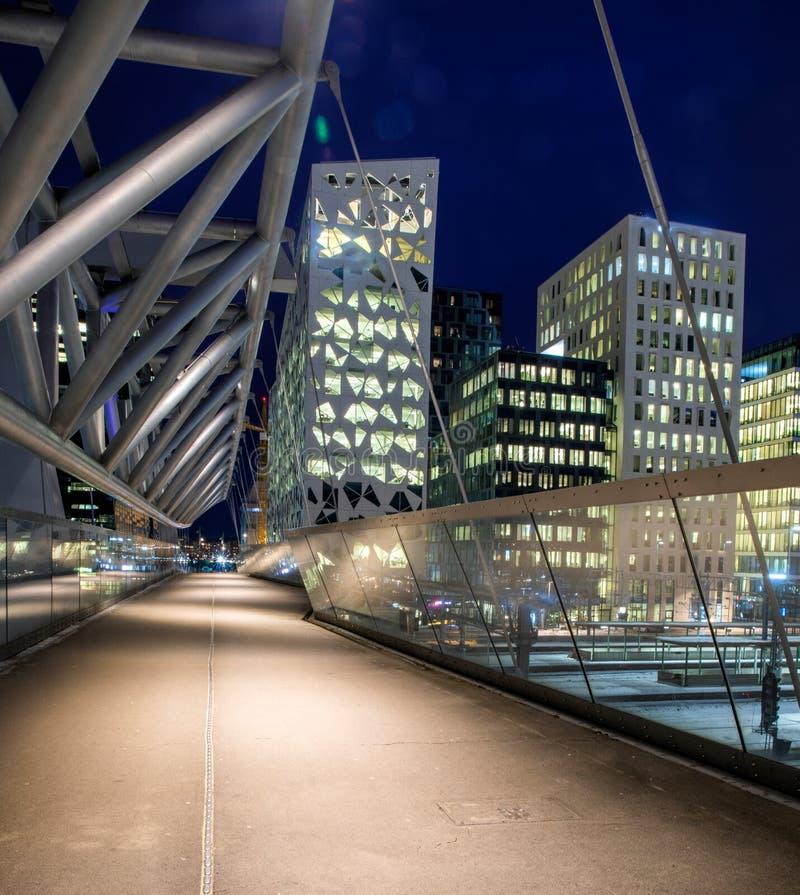 Architecture moderne à Oslo du centre photos stock
