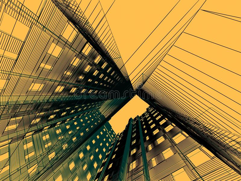Architecture moderne abstraite illustration stock