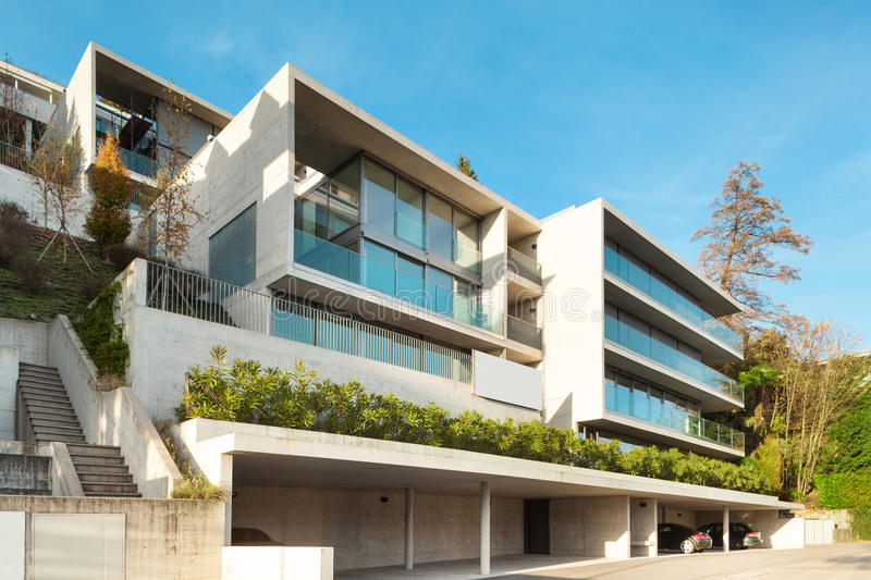 Architecture moderne, construisant image stock