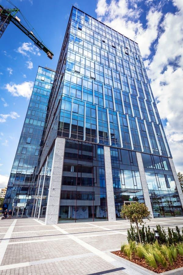 Architecture moderne de bâtiments d'Olivia Business Centre à Danzig photos libres de droits