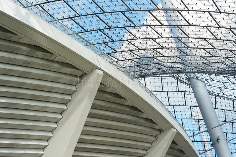 Architecture moderne de stade photo libre de droits
