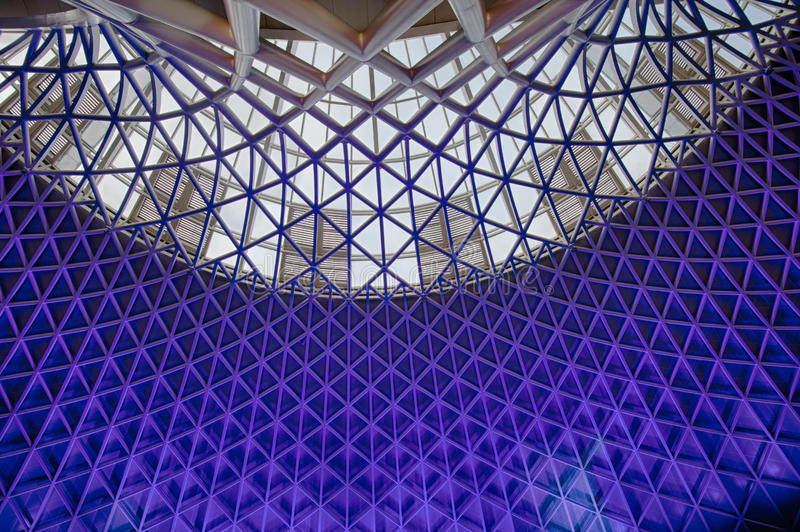 Architecture moderne de structure intérieure photographie stock libre de droits