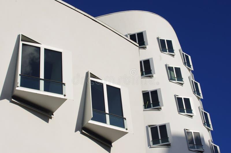 Architecture moderne, port de media à Dusseldorf photographie stock