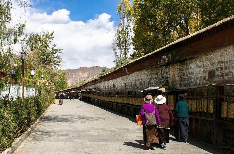 Architecture of Monastery in Lhasa, Tibet stock photography