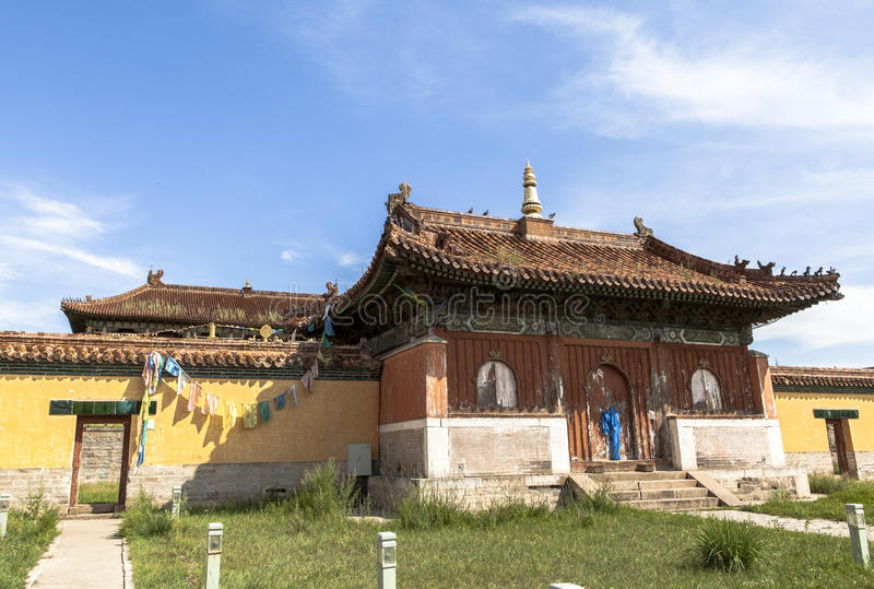 Architecture of Monastery in Mongolia royalty free stock images