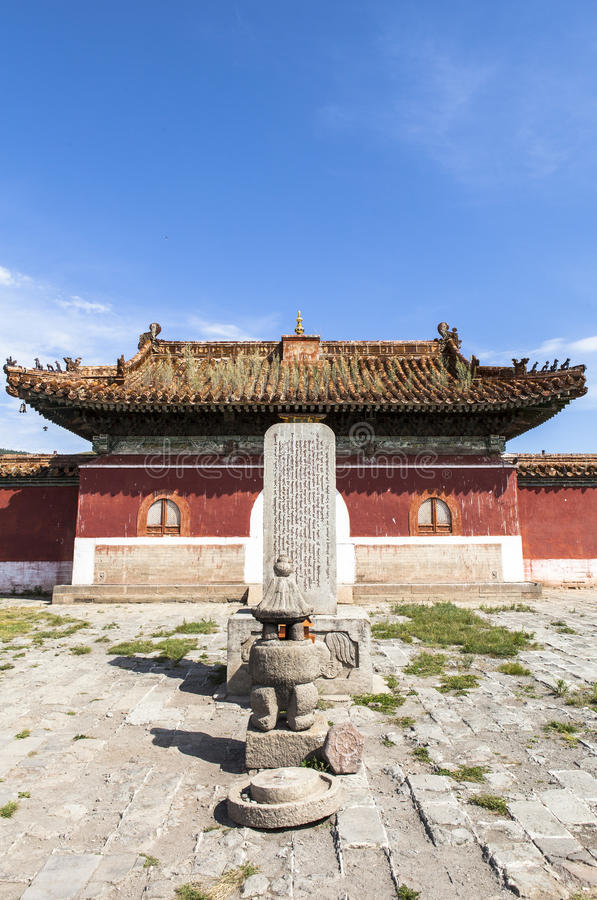 Architecture of Monastery in Mongolia. Buddhism in Mongolia derives much of its recent characteristics from Tibetan Buddhism of the Gelug and Kagyu lineages royalty free stock images
