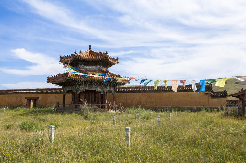 Architecture of Monastery in Mongolia. Buddhism in Mongolia derives much of its recent characteristics from Tibetan Buddhism of the Gelug and Kagyu lineages stock images