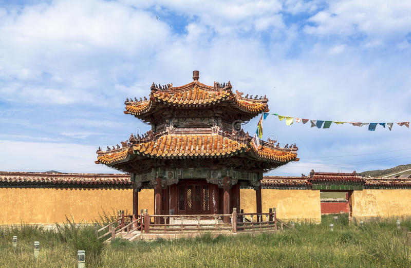 Architecture of Monastery in Mongolia stock photography