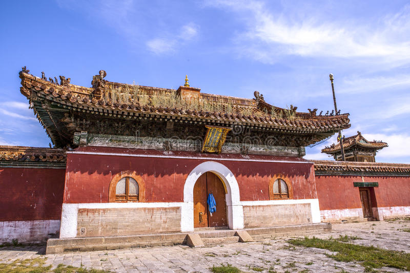 Architecture of Monastery in Mongolia stock photos