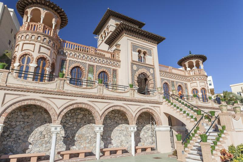Architecture, monument building, house, casa de los navajas,neo-mudejar style in Torremolinos,Spain. royalty free stock photography