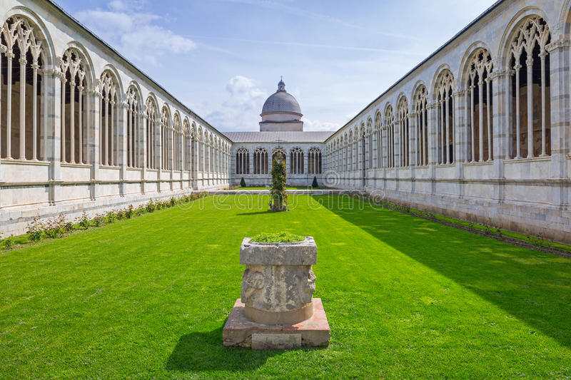 Architecture of Monumental Cemetery in Pisa royalty free stock photos