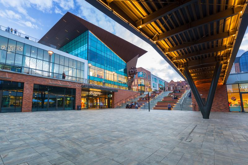 Architecture of new Forum mall in the city center of Gdansk royalty free stock photos