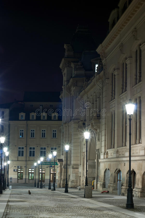 Architecture by night stock photography