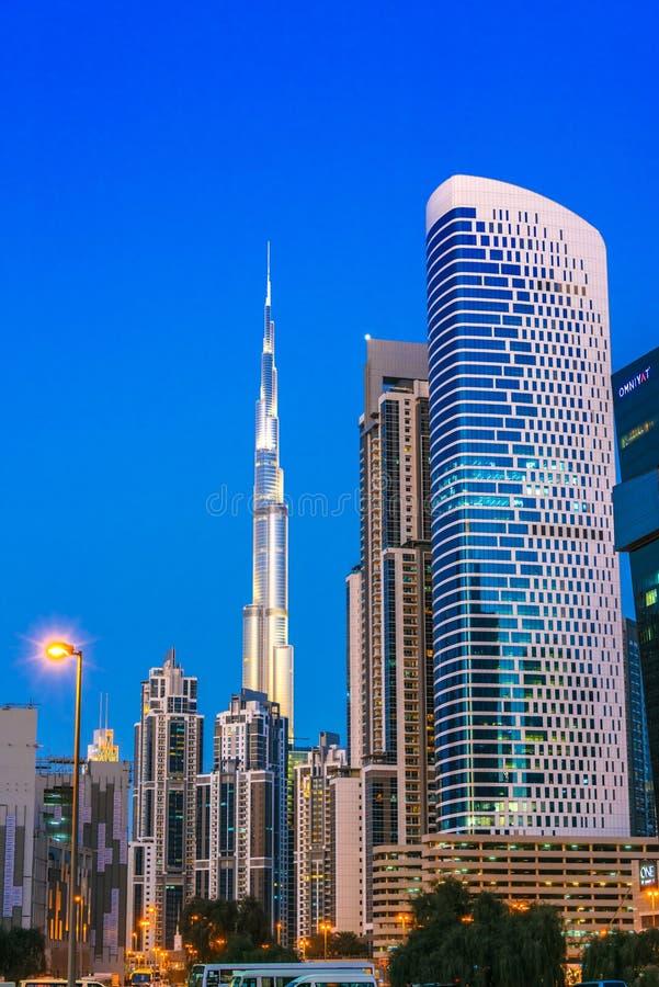 Architecture od Business Bay in Dubai, UAE stock photo