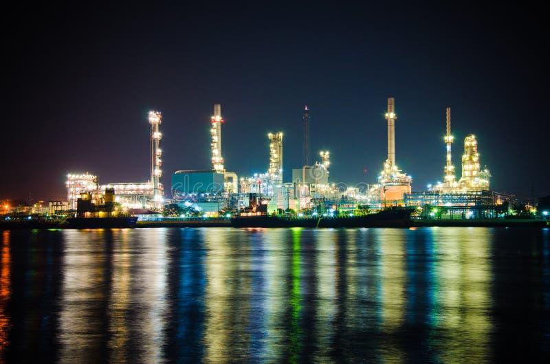 Architecture of Oil Refinery Plant stock photo