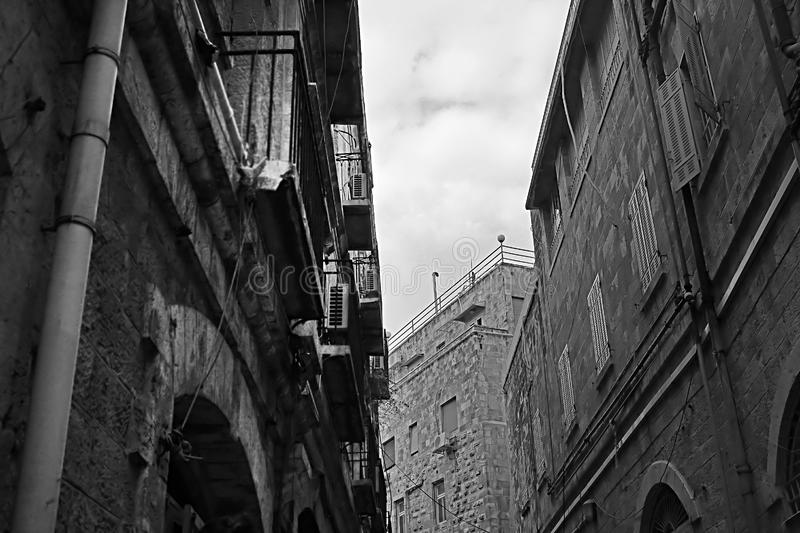 Architecture in The Old City of Jerusalem, Israel stock photos