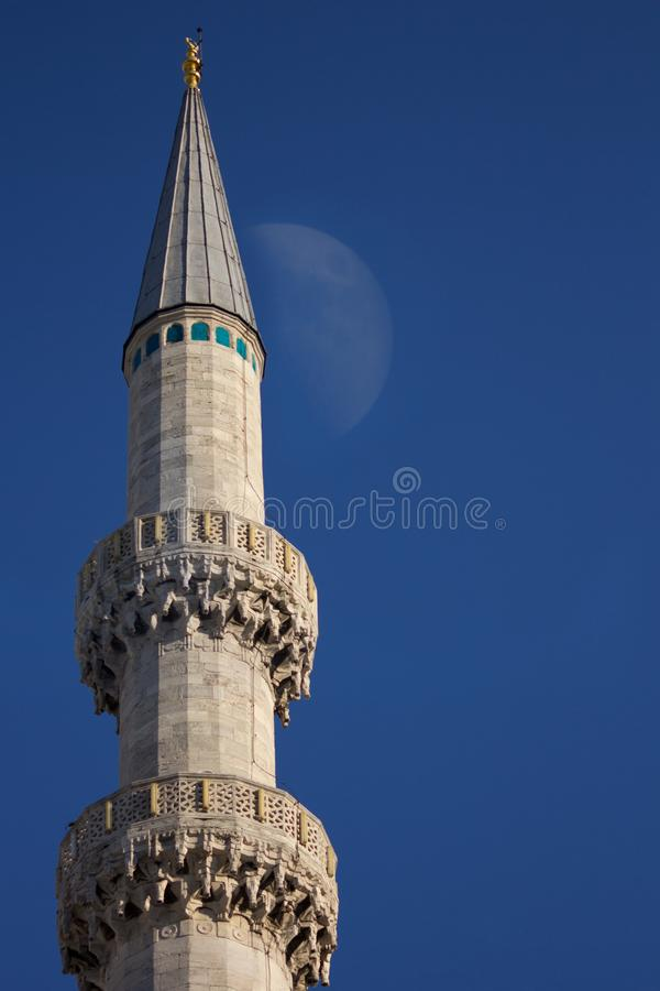 Architecture in Old Istanbul . Detail of Suleymaniye Mosque in Istanbul, Turkey - Image royalty free stock image