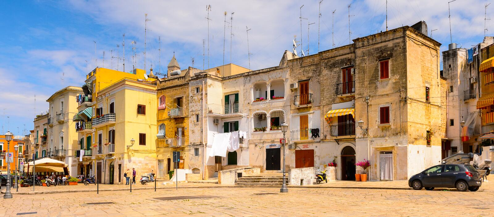Architecture of the Old Town of Bari, Italy royalty free stock photos