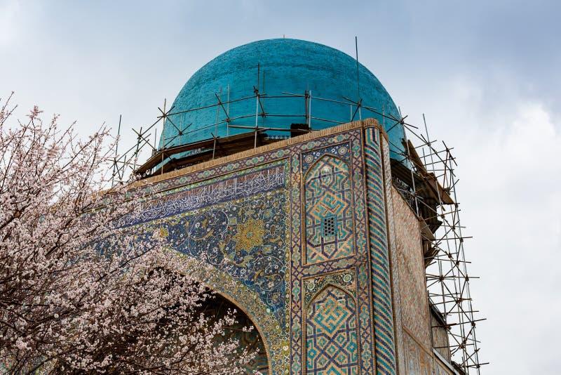 Architecture orientale stupéfiante de la ville antique de Samarkand, l'Ouzbékistan images stock
