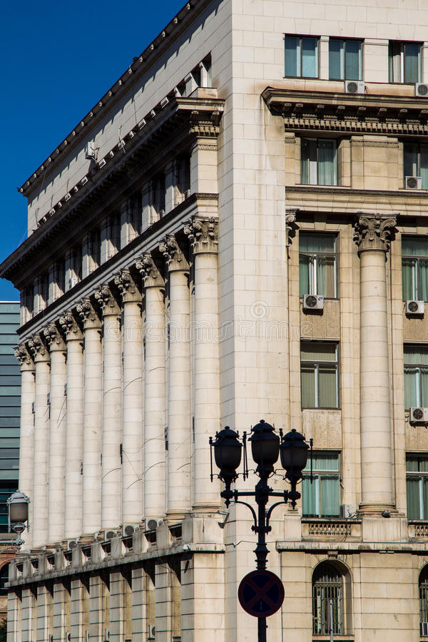 Architecture Palace Senate, currently the Ministry of Interior. Senate Palace ( the former headquarters of the Central Committee of the RCP ) is a building in royalty free stock images