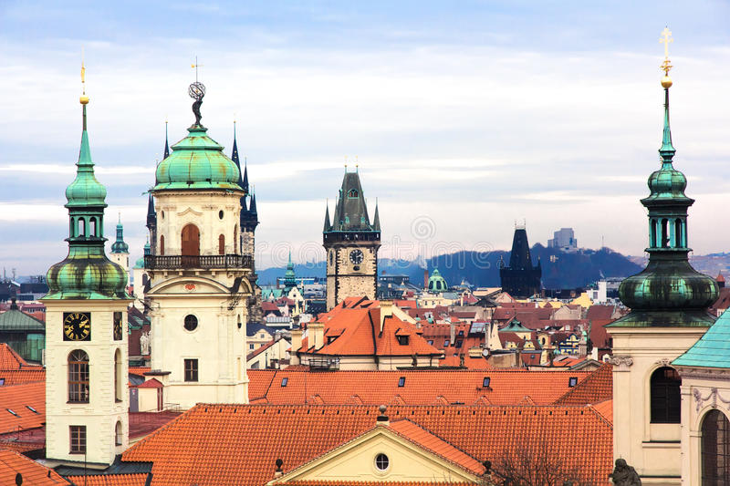 Architecture Patchwork of Prague royalty free stock image
