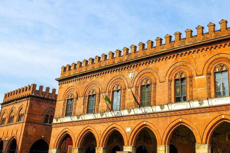 Architecture of the Piazza del Duomo in Cremona royalty free stock photos