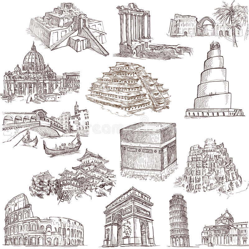 Architecture and places 2 stock illustration