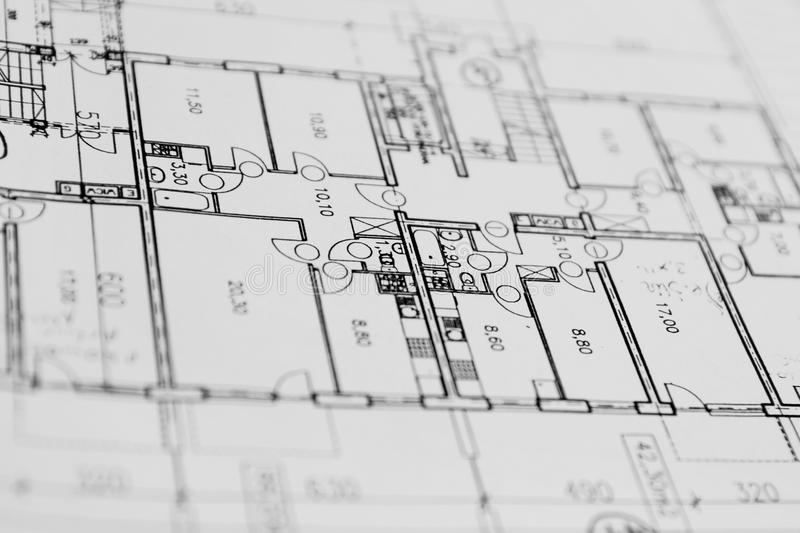 Architecture plan. On a paper stock photo