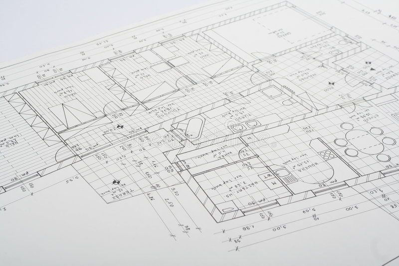 Architecture plan. In a table royalty free stock photos