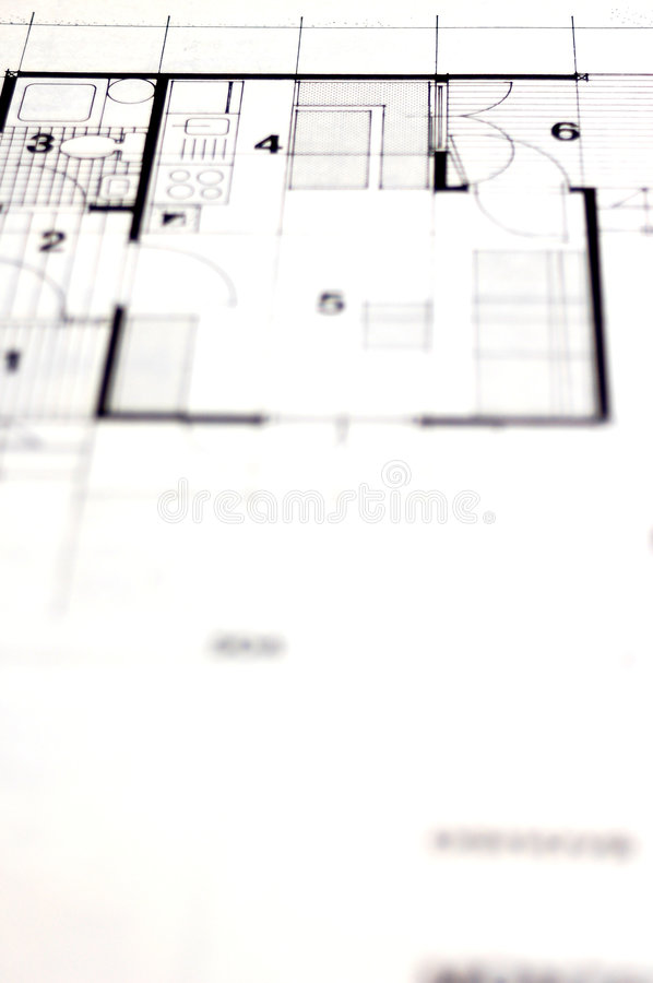 Architecture planning royalty free stock photos