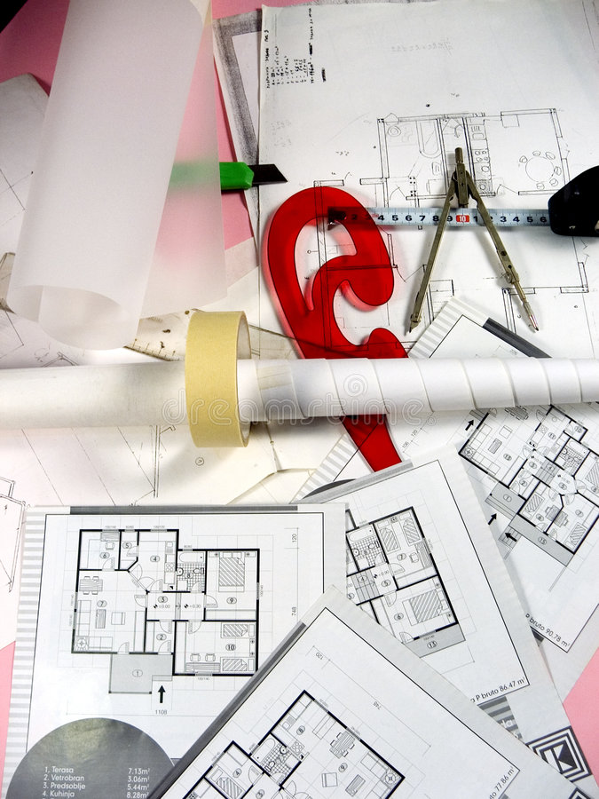 Download Architecture planning stock photo. Image of numbers, outline - 659970