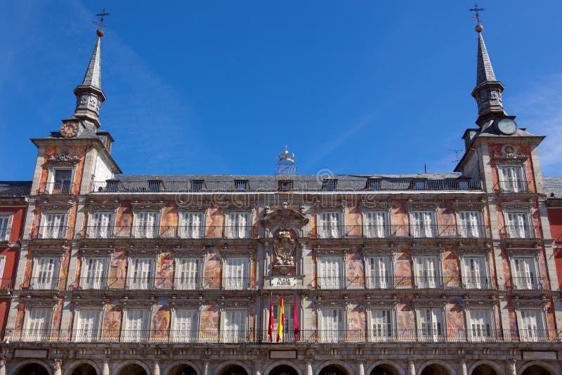 Architecture at Plaza Mayor  in Madrid, Spain /  Casa de la Pana stock photos