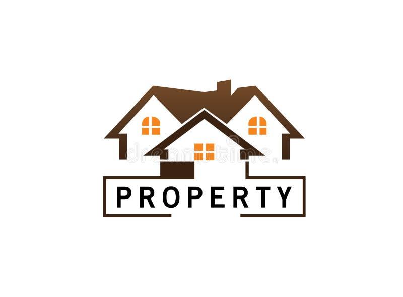 Architecture pour la maison et les maisons pour l'illustration de conception de logo illustration libre de droits