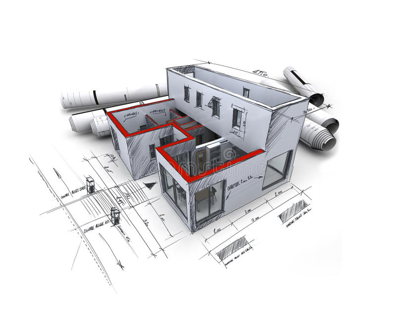 Download Architecture project stock illustration. Image of residential - 10758603