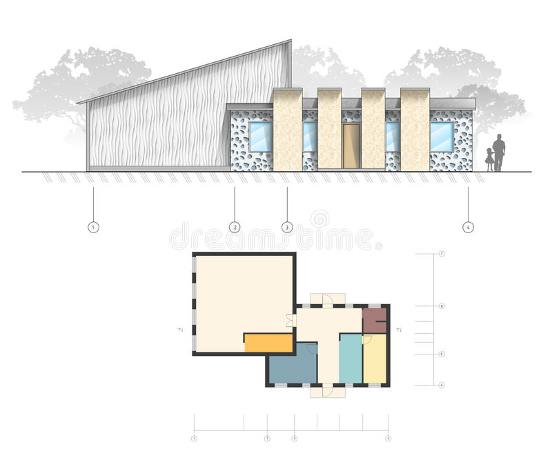 Architecture project royalty free illustration