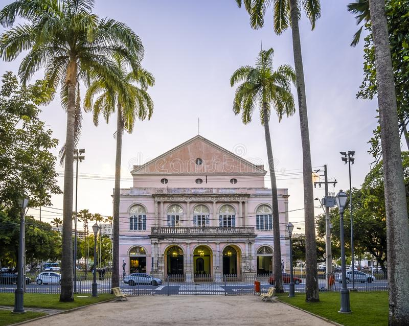 Recife in PE, Brazil. The architecture of Recife in PE, Brazil at sunset royalty free stock images