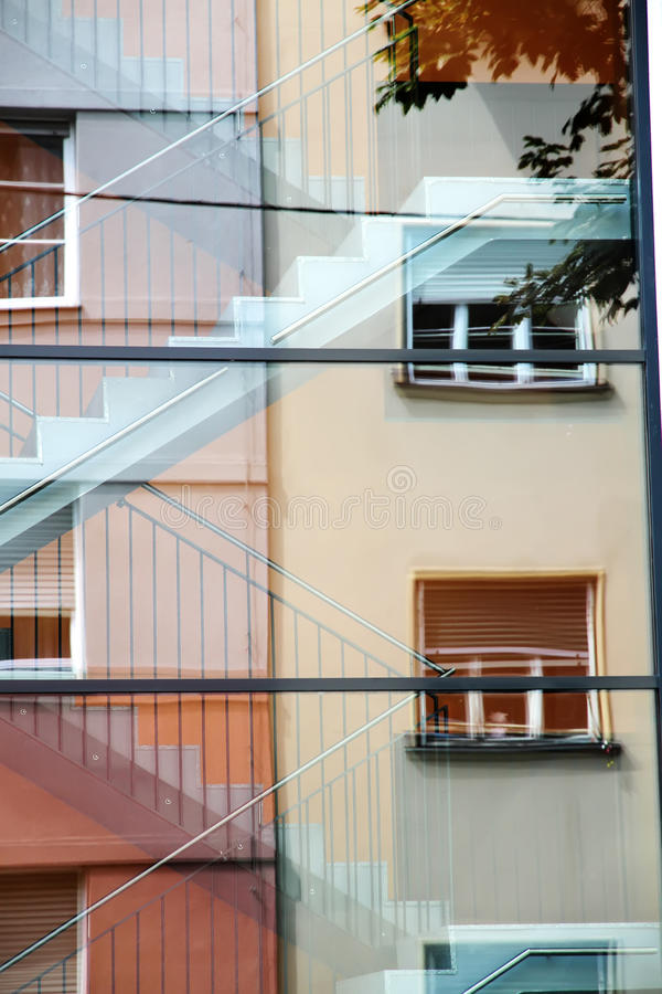 Download Architecture reflection stock image. Image of window - 24627587