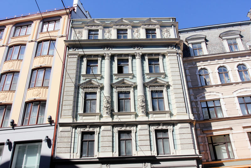 Architecture of Riga, Latvia royalty free stock photography