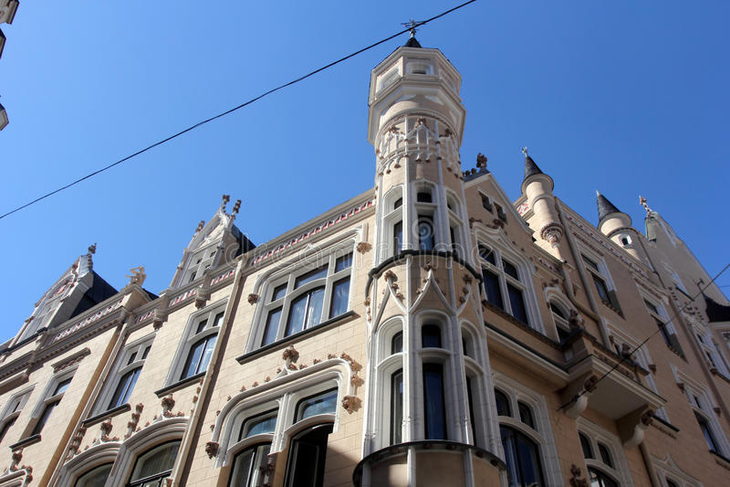Architecture of Riga, Latvia stock photos