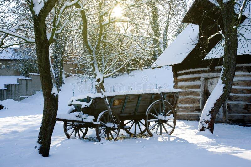 Architecture rurale traditionnelle dans le musée en plein air en Na de Prerov image libre de droits