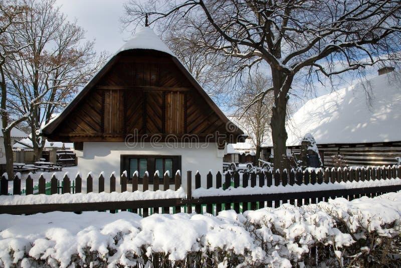 Architecture rurale traditionnelle dans le musée en plein air en Na de Prerov photos libres de droits