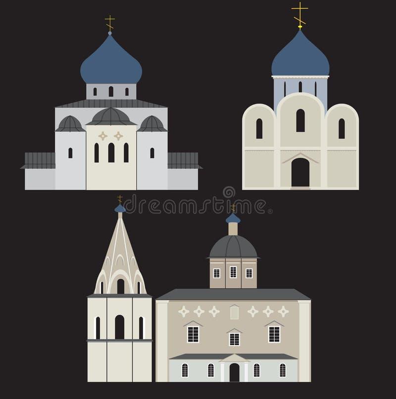 Architecture russe antique illustration stock