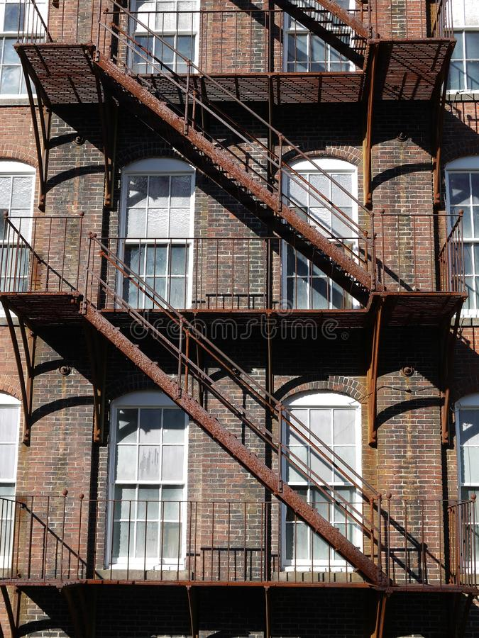 Download Architecture: Rusty Steel Fire Escape V Stock Photo - Image: 21776204