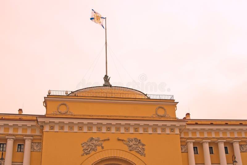 Architecture of Saint-Petersburg, Russia. Admiralty building. SAINT-PETERSBURG, RUSSIA – APRIL 01, 2017: Admiralty building. Architecture of historical stock image